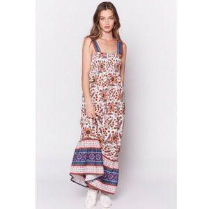 NWT Joie Chisuzu Printed Floral Maxi Dress